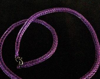 Purple Viking Knit Necklace