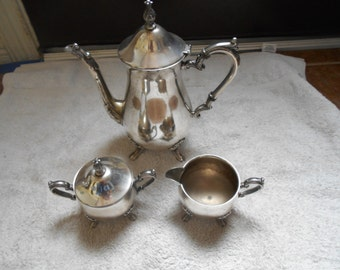 Sheridan Vintage 4 Piece Silver Tea Set