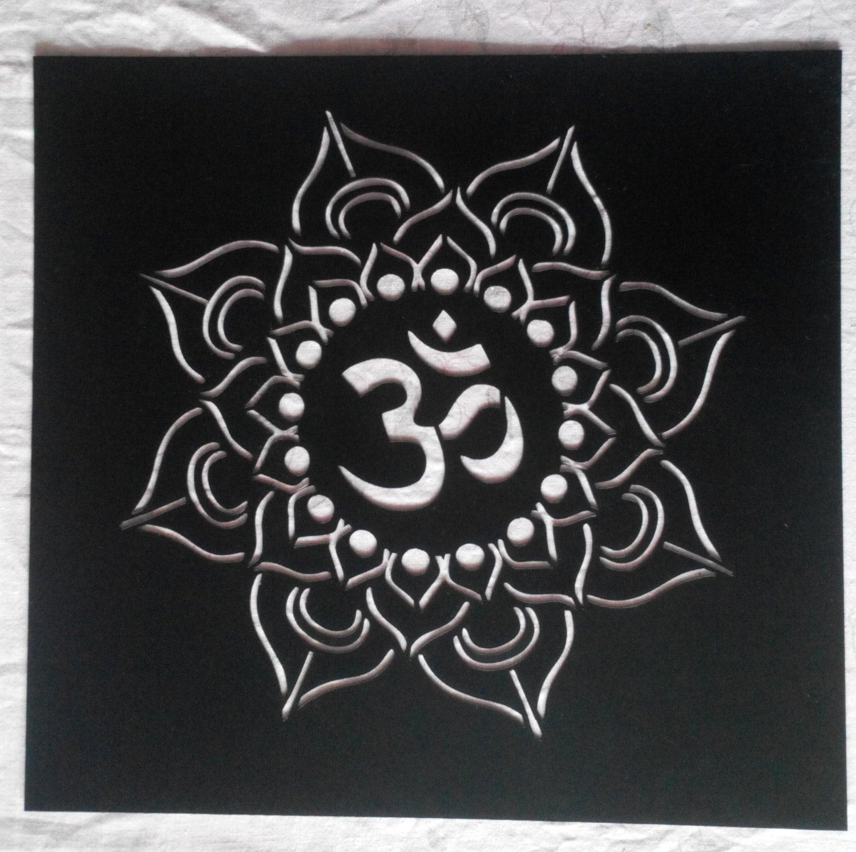 Reusable plastic yoga lotus stencil mandala om sanskrit om 1860 buycottarizona