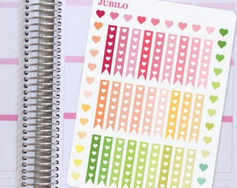 Planner Stickers Heart Checklist