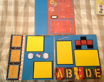 School pre-made scrapbook pages