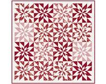 Poinsettia Stars PDF Quilt Pattern