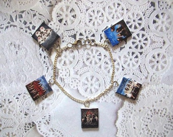 Pretty Little Liars Charm Bracelet Polymer Clay Charms (SALE! See description for freebie bracelet!)