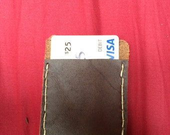 Leather two-tone cardholder wallet