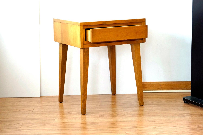 Mid century modern bedside table nitestand table by fallowhorn - Modern bedside table ...