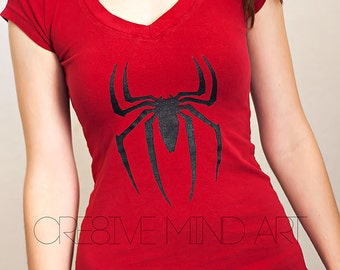 Adult's Custom Graphic T-Shirt, You Choose Graphic, Unisex Clothing, Spider-man, Superhero, Tops & Tees, Painted Graphic, Halloween, Unique