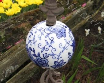 Blue & White Garden Globe