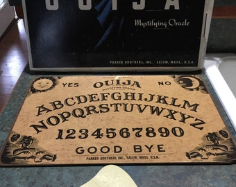 Ouija Board Game by William Fund Parker Brothers 1960's