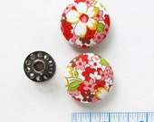 Fabric Buttons 1.25 Inch |  Fabric Covered Buttons | Floral Fabric Buttons