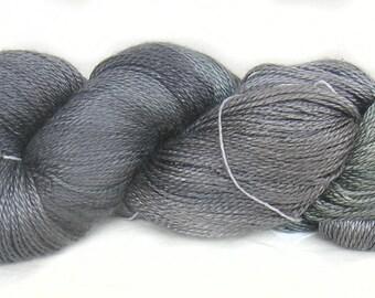 Handdyed mulberry silk yarn