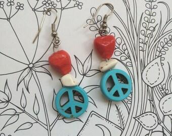 Happy Yogi American Peace Drop Earrings