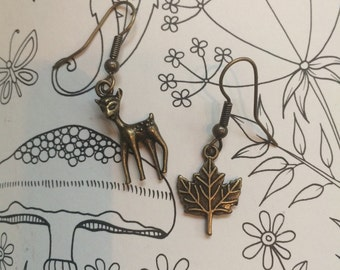 Antique Look Nature Girl Earrings