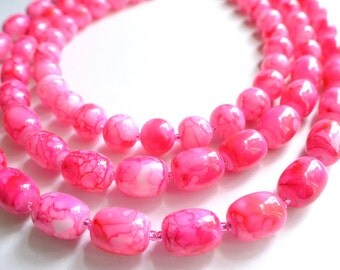 The Warhol- Pink Porcelain Statement Necklace