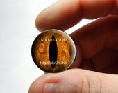 Glass Eyes - Steampunk Taxidermy Dragon Eyes 25mm 1 inch Copper Cabochons - Pair or Single - You Choose Size