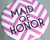 10 Personalized Chevron Mirrors, Pinback Buttons, Magnets, Bottle Openers, Bachelorette, Bridesmaid Favor, Birthday Party Favor