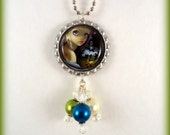 """Jasmine Becket Griffith  """" Microcosm: Triceratops """"  necklace"""