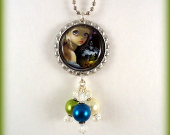 "Jasmine Becket Griffith  "" Microcosm: Triceratops ""  necklace"