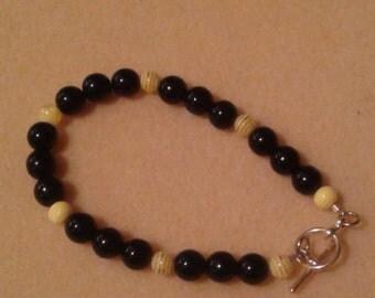 BB4 - Black and yellow bracelet