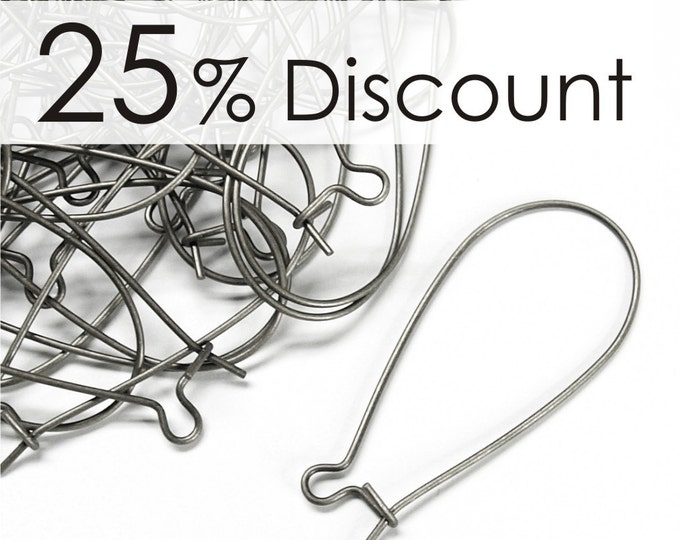EWS-kd35 - Earwire, Kidney Large, Surgical Steel - 100 Pieces (10pk)