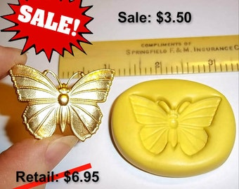 ON SALE - Butterfly -  Flexible Push Mold -  Food Safe Silicone  I189