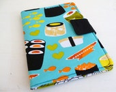 Kindle Touch Cover, Soft Book Style Paperwhite Case, Bright Aqua Sushi