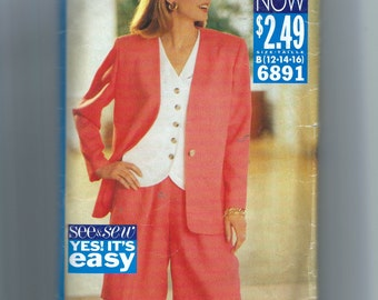 Butterick Misses' Jacket, Top, and Shorts Pattern 6891