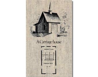 Vintage Carriage House Plan fridge Magnet kitchen refrigerator magnet on linen kitchen decor cheap gift