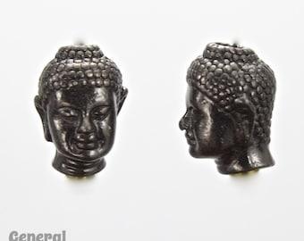 10mm x 14mm Gunmetal Tierracast Buddha Head Bead #CKC183