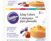 Wilton 8 Icing Colors - 1/2 ounce jars!