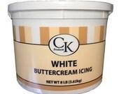 CK Products  White Buttercream 8 lb tub.   Exp 4/2016