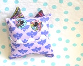 Monster Tooth Fairy Pillow - Purple Lavender Bee