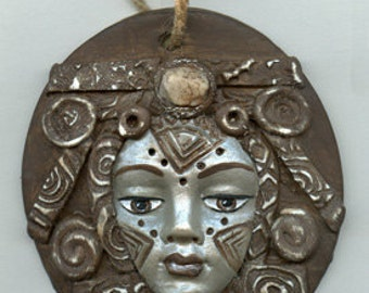 Polymer One of a Kind Tribal Keeper of the Temple Wall Plaque TRIWALL 3