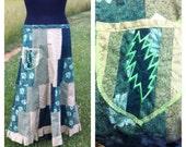 Green Terrapin Station BoLT pocket FLarE skirt by ccquilter