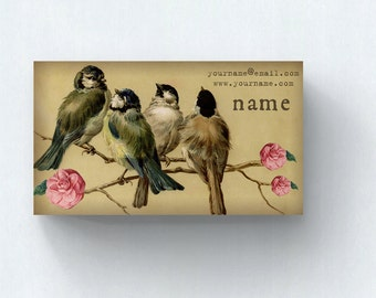 Business Cards  Custom Business Cards  Personalized Business Cards  Business Card Template  Vintage Business Cards  Bird Business Card V15