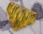 Vintage glass topaz art deco graduated stacked baguette stone 15x12mm - f4763