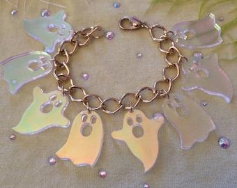 Radiant Ghost Charm Bracelet