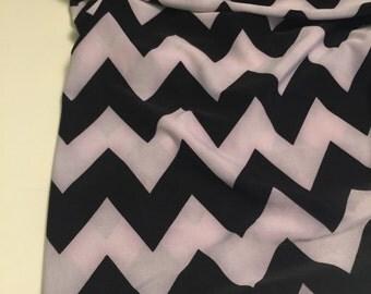 Polyester ITY Fabric Chevron Pattern 1 Yard