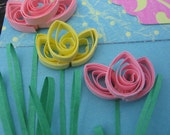 Quilled Tulip Thinking of you Card