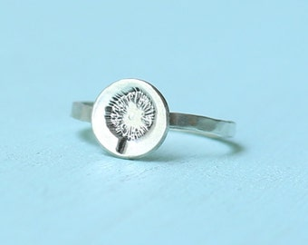 Mini POPPY Stacking Ring, eco-friendly sterling silver or 14kt gold vermeil. Handcrafted by Chocolate and Steel