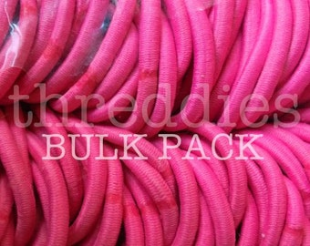 144 thick elastic ponytail holders // wholesale hair elastics // pick your color, snag free