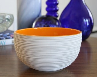 Orange Bowl - SHOP SALE - Orange Unglazed Ceramic Bowl - On Sale