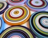 "Abstract Art Paintings Rainbow Sculpture Modern Wall Decor wood circles Original - 8 piece large set ... ""Circular Logic"", by Amy Giacomelli"
