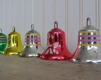 Vintage Plastic Bell Ornaments