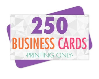Business Cards Printed, 250 Business Cards, Hang Tag Printing, Glossy or Matte Business Cards, Rounded Corner Cards