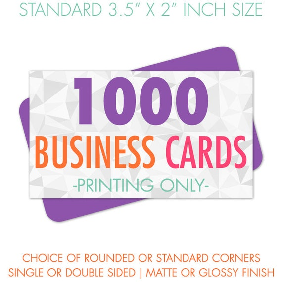 Printed Business Cards, 1000 Business Cards, Business Card Printing, Eco Friendly Printing, Full Color Printing, Recycled Paper and Soy Ink