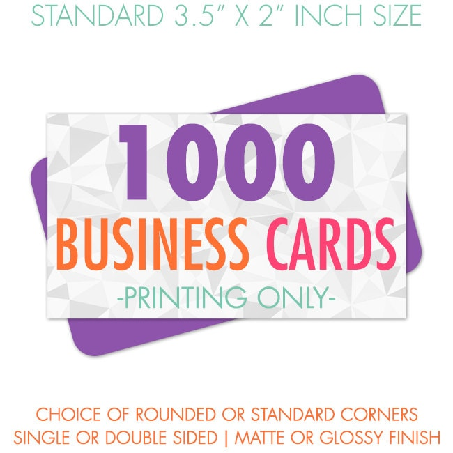 Printed business cards 1000 business cards by for Business cards 1000