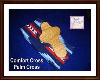 Comfort Cross, Wood Cross, Christian , Prayer,  Palm Cross