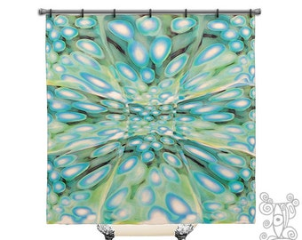 beach shower curtain shower curtain unique shower curtain boho shower curtain blue