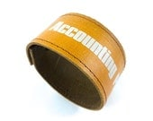 Book Spine Bracelet - Accounting Principles - made from recycled vintage book by Rebound Designs