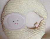 Waldorf Toy, Eco Kids Toy, Crescent Moon, Plush, Natural, Eco-Friendly Toy Pillow